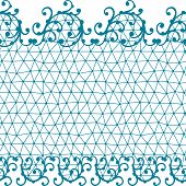 Seamless lace pattern with floral ornaments. This is file of EPS8 format. poster