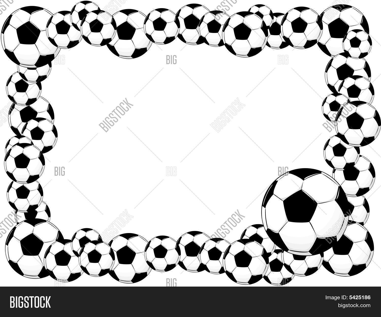 Soccer ball frame vector photo bigstock soccer ball frame jeuxipadfo Images