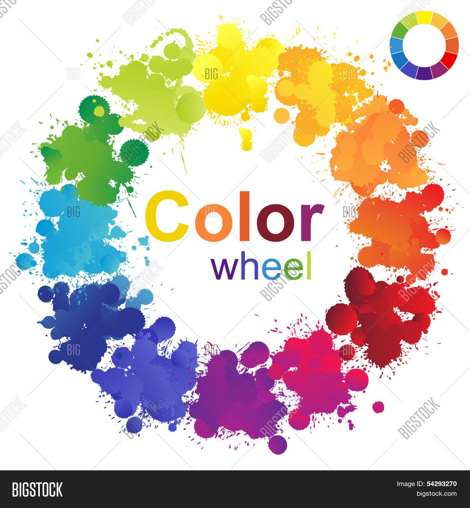 Fine Creative Color Wheel Vector Photo Free Trial Bigstock Interior Design Ideas Tzicisoteloinfo