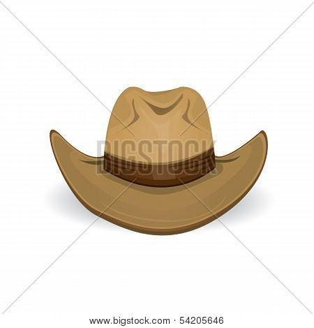 cowboy hat. vector illustration.