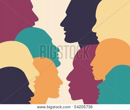 People profile shape.