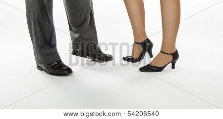 Dancing Couple In Crocodile Skin Shoes