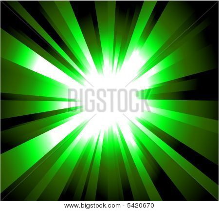 Green Rays Explosion