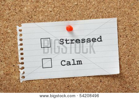 Stressed Or Calm?
