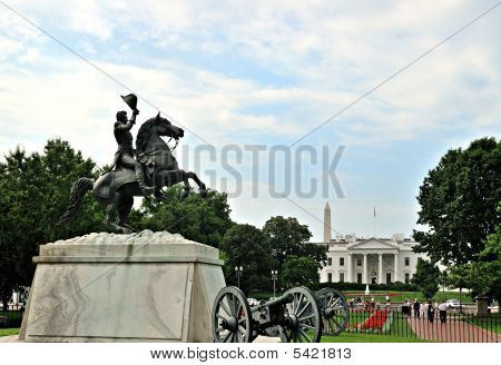 Jackson Statue in front of White House
