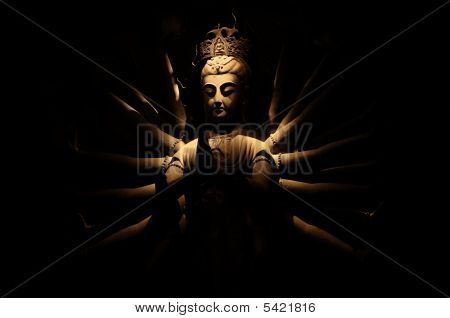 Buddha at night