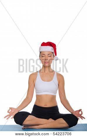 Azian Meditating In A Red Cap