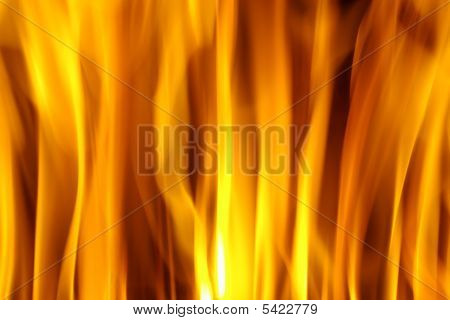 Abstract background of red hot burning fire flames poster