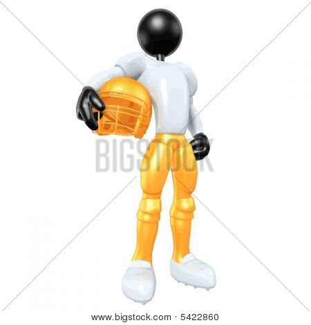 3D Vector Football Player