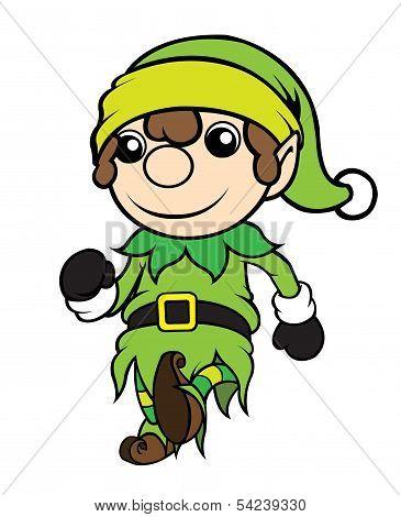 Christmas Elf Boy Walking