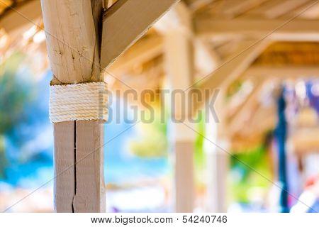 hut on a tropical island