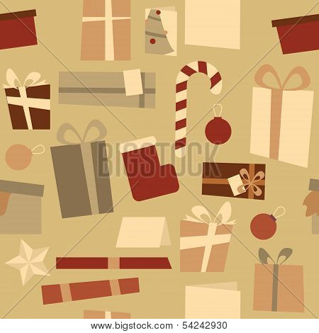 Christmas Decorations Seamless Pattern