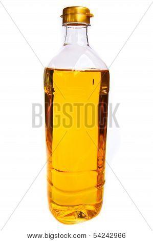 Vegetable Oil In A Plastic Bottler