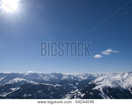 View Over The Alps In Austria