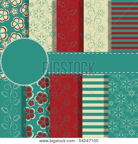 set of beaautiful vector paper for scrapbook poster