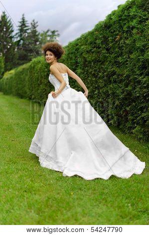 Yung Princess Walking In Garden