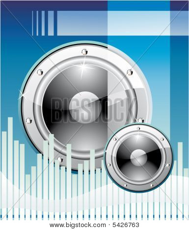Equalizer Disco Music event Background with high contrast colors poster