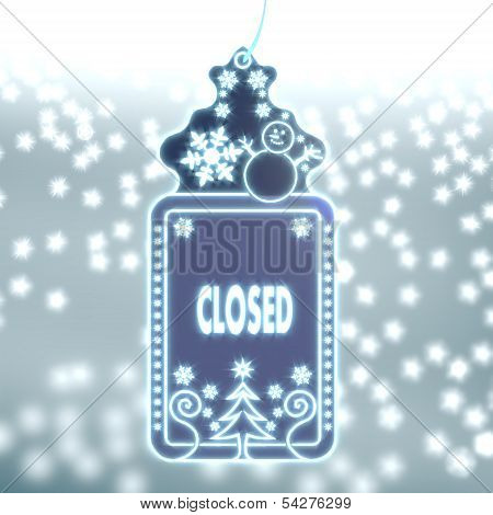 Magic Christmas Label With Closed Sticker