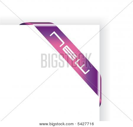 Colorful Advertise Tag with High Tech style poster
