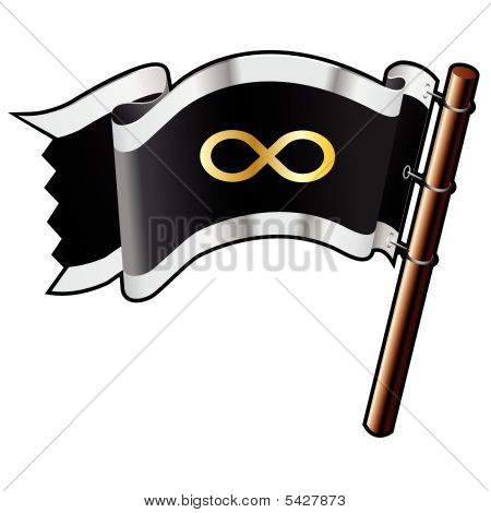 Infinity Symbol On Pirate Flag