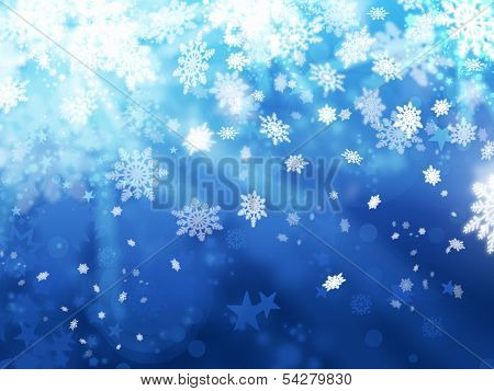 Xmas Snoflakes Abstract Winter Background