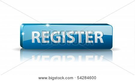 3D Blue Web Button Register