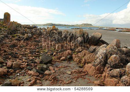 Beach At Fionnphort, Isle Of Mull, Scotland, Uk