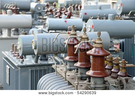 Power Transformer In A Power Plant