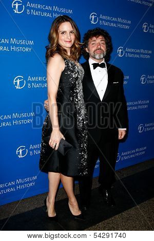 NEW YORK-NOV 21; Actress Tina Fey and husband Jeff Richmond attend American Museum of Natural History's 2013 Museum Gala at American Museum of Natural History on November 21, 2013 in New York City.