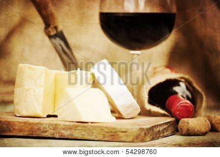 Textured Vintage Wine Background