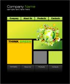 Environment Green Web Site Template With high contrast colors poster