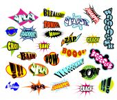 Set of Comic Word Expressions With high contrast colors poster