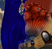 Surreal Abstract with human elements poster