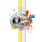 Disco Music Event Background with colorful Abstract elements with high contrast colors poster