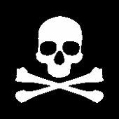 Pixel skull and bones. This is file of EPS8 format. poster