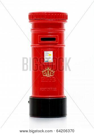 London iconic post box letter