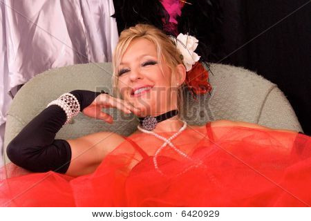 Laughing Costumed Woman