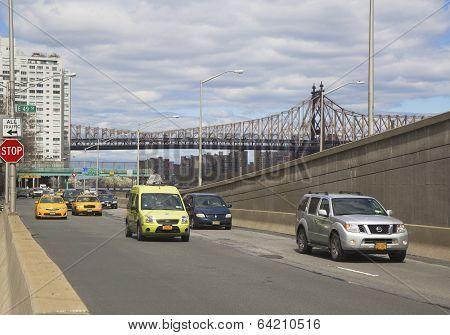 FDR drive in midtown Manhattan