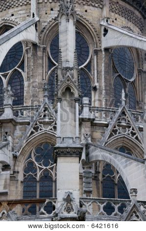 Closeup of Notre Dame Cathedral