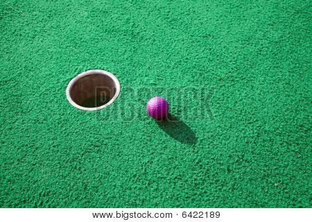 Purple Golf Ball