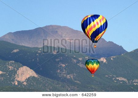 Hot Air Ballooning Mountains