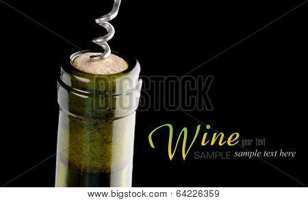 Opening A Wine Bottle With A Cork Screw