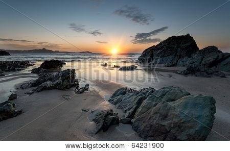 Lusty Glaze Beach At Newquay In Cornwall