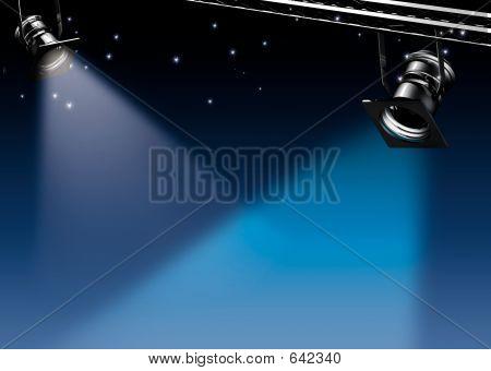Spots Of Light At Night