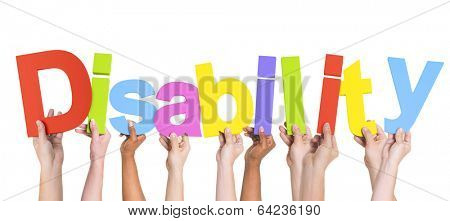 Group of Multiethnic Hands Holding Disability