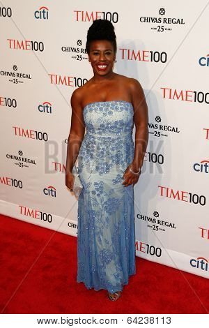 NEW YORK-APR 29: Actress Uzo Aduba attends the Time 100 Gala for the  Most Influential People in the World at the Frederick P. Rose Hall at Lincoln Center on April 29, 2014 in New York City.