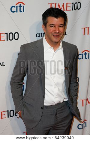 NEW YORK-APR 29: Entrepreneur Travis Kalanick attends the Time 100 Gala for the Most Influential People in the World at the Frederick P. Rose Hall at Lincoln Center on April 29, 2014 in New York City.