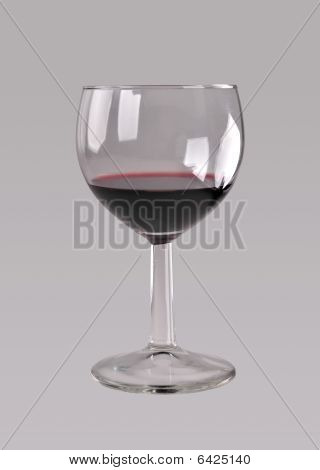 Glass of red sweet wine