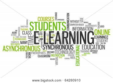 Word Cloud E-learning