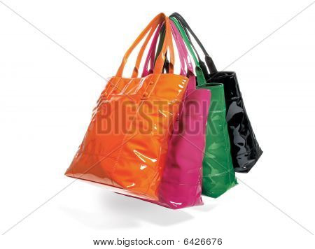 Four Tote Bags In Assorted Colors